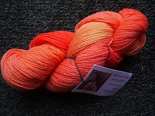 Orange yy sock yarn