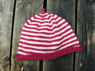 Db striped baby hat