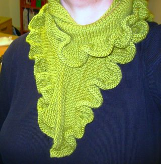 Ruffle scarf on