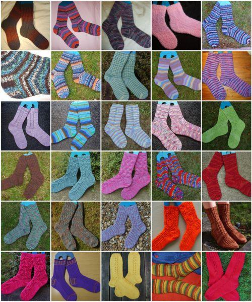 Mosaic socks 2008