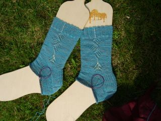 Waterlily socks to heel