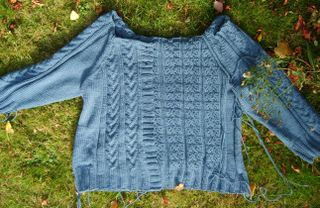Grey cable cardy