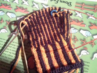 Striped mitts number 2