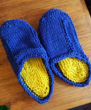 Easier felted clogs